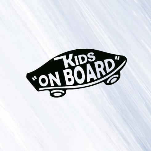 Kids on board - vinylová samolepka na auto