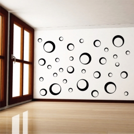 Sada 33 kruhů 23cm(6x), 14cm(9x) a 8cm(18x) - vinylová samolepka na zeď