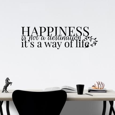 Happiness - vinylová samolepka na zeď