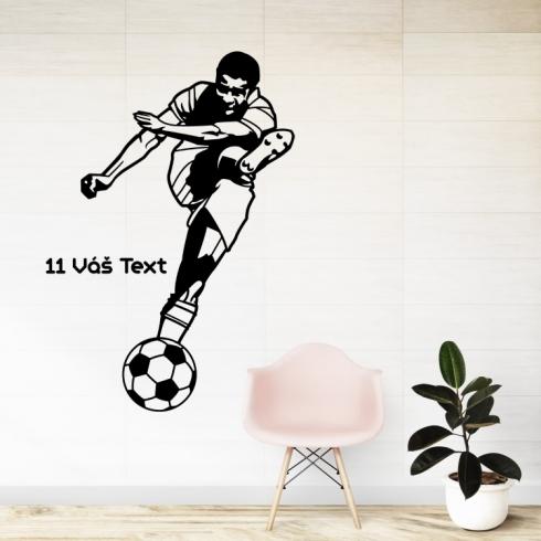 Fotbalista s vaším textem - vinylová samolepka na zeď