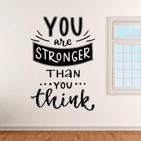 You are stronger than you think - motivační - vinylová samolepka na zeď