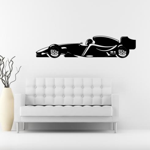 Auto Formule 1 - vinylová samolepka na zeď