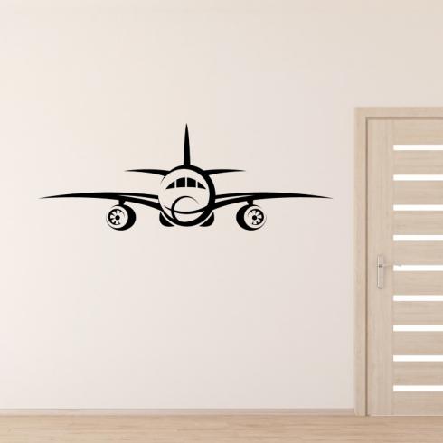 Civilní letadlo - vinylová samolepka na zeď