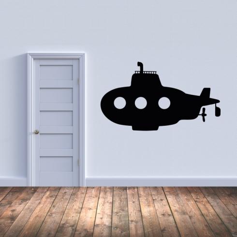 Dětská ponorka - vinylová samolepka na zeď
