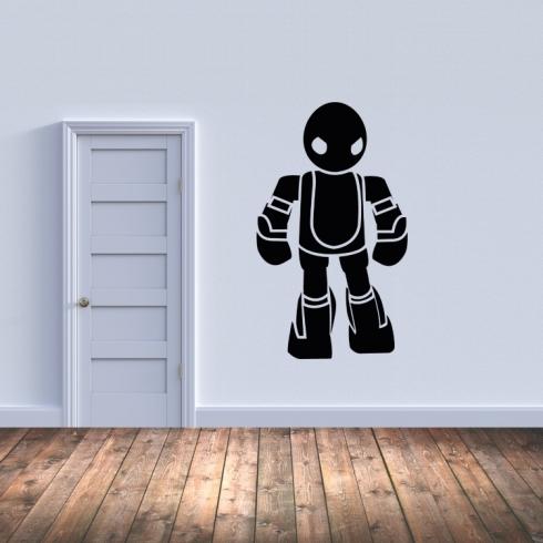 Dětský robot - vinylová samolepka na zeď