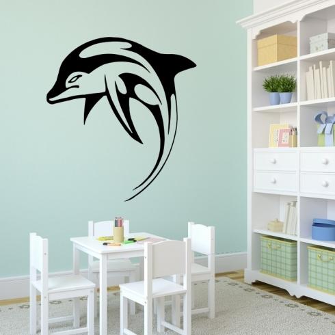 Delfín - vinylová samolepka na zeď