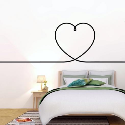 Nekonečné srdce - vinylová samolepka na zeď