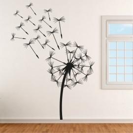 Pampeliška s chmýřím - vinylová samolepka na zeď