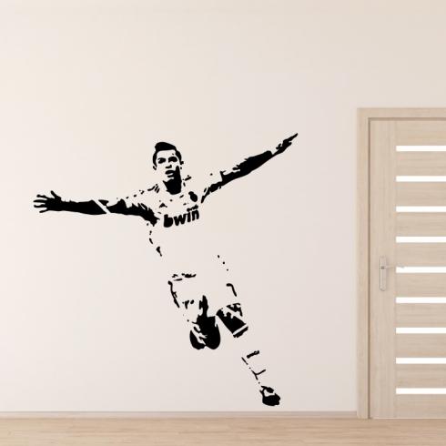 Cristiano Ronaldo - vinylová samolepka na zeď