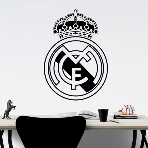 Znak fotbal Real Madrid - vinylová samolepka na zeď