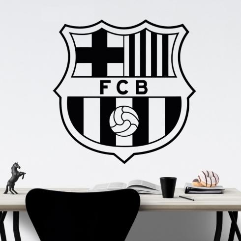 Znak fotbal FC Barcelona - vinylová samolepka na zeď
