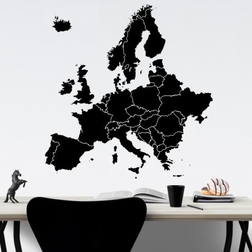 Evropa mapa - vinylová samolepka na zeď