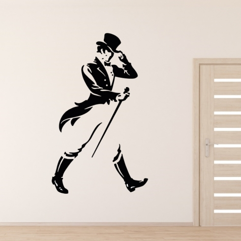 Johny Walker silueta - vinylová samolepka na zeď