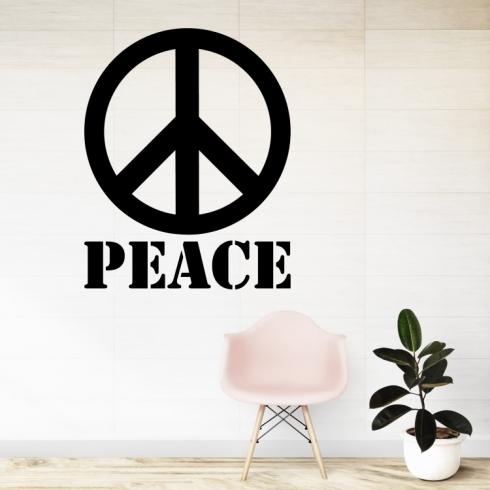 Peace mír znak - vinylová samolepka na zeď