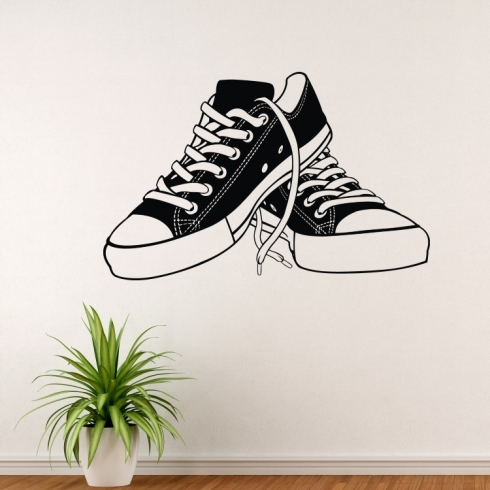 Boty tenisky - vinylová samolepka na zeď
