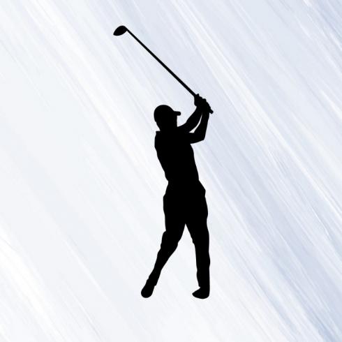 Golfista - vinylová samolepka na auto