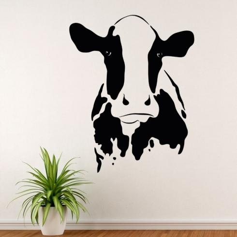 Kráva kravička - vinylová samolepka na zeď