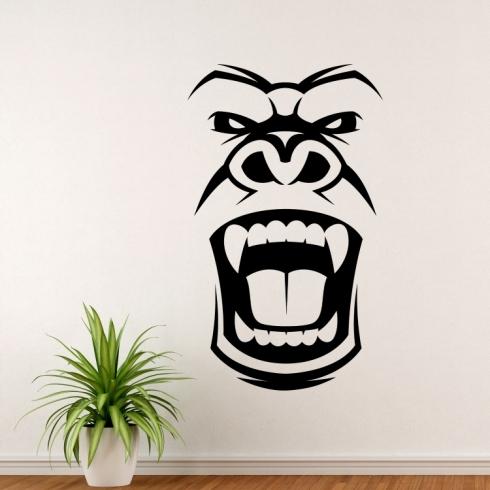 Strašidelná Gorila - vinylová samolepka na zeď