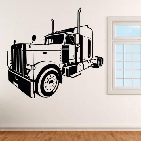 Americký kamion tahač - vinylová samolepka na zeď