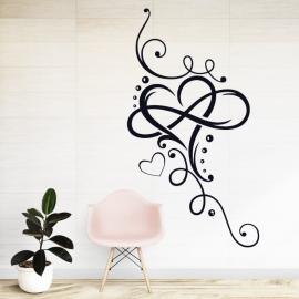 Zamilovaná dekorace srdce - vinylová samolepka na zeď
