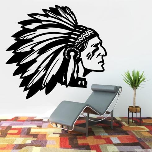 Indian Apache - vinylová samolepka na zeď