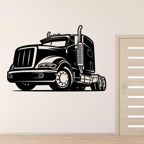 Kamion tahač - vinylová samolepka na zeď