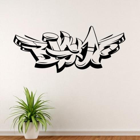 Graffiti Big Up - vinylová samolepka na zeď