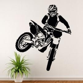 Motorka motokros - vinylová samolepka na zeď