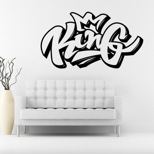 Graffiti King - vinylová samolepka na zeď