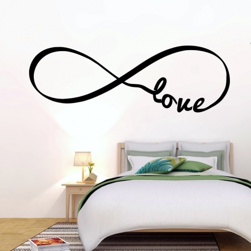 Infinity Love láska - vinylová samolepka na zeď
