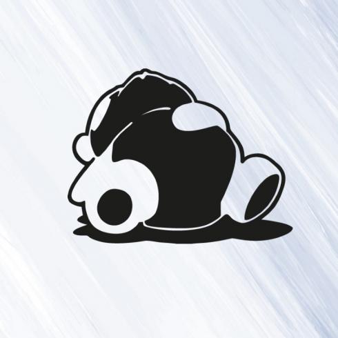 JDM Sleepy Panda - vinylová samolepka na auto