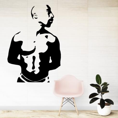 Rapper Tupac Shakur - vinylová samolepka na zeď