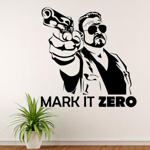 Big Lebowski Mark It Zero - vinylová samolepka na zeď