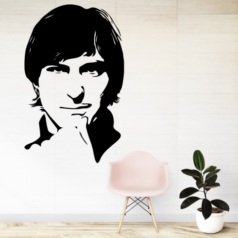 Steve Jobs silueta - vinylová samolepka na zeď
