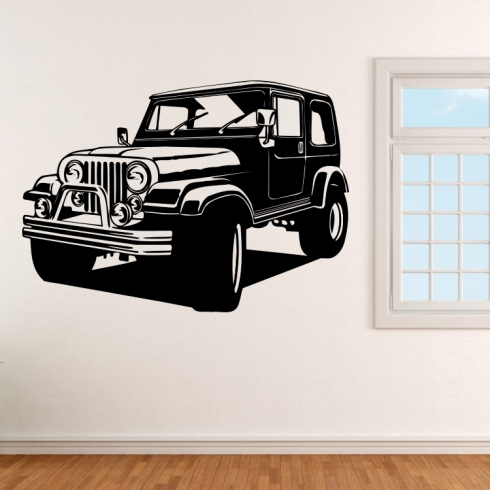 Jeep auto - vinylová samolepka na zeď