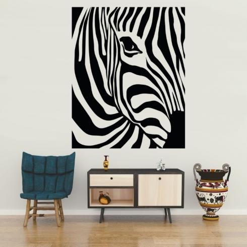 Zebra dekorace - vinylová samolepka na zeď