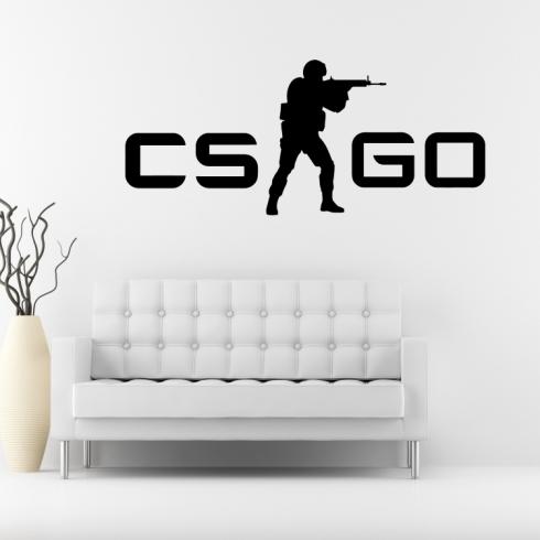 Counter-Strike Global Offensive CSGO - vinylová samolepka na zeď