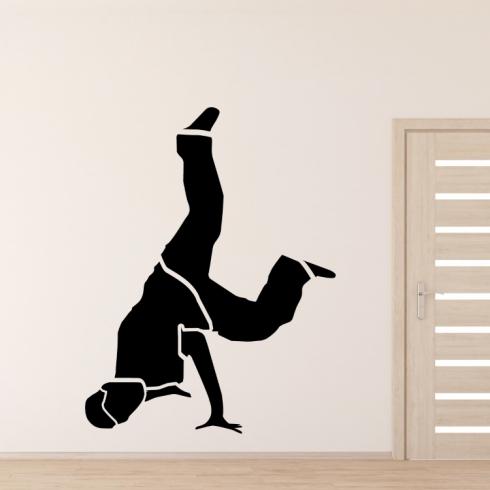 Tanečník brakedance - vinylová samolepka na zeď