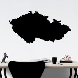 Mapa Česká republika - vinylová samolepka na zeď
