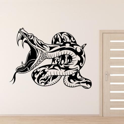 Had zmije - vinylová samolepka na zeď