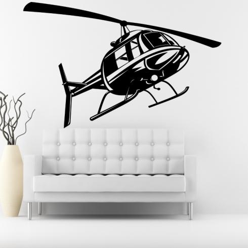 Vrtulník helikoptéra - vinylová samolepka na zeď