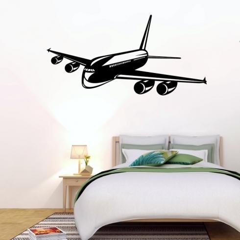 Cestovní letadlo - vinylová samolepka na zeď