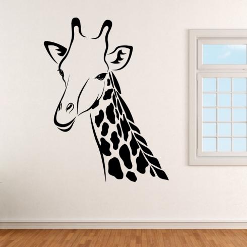 Žirafa Róza - vinylová samolepka na zeď