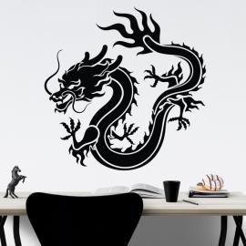 Čínský drak - vinylová samolepka na zeď