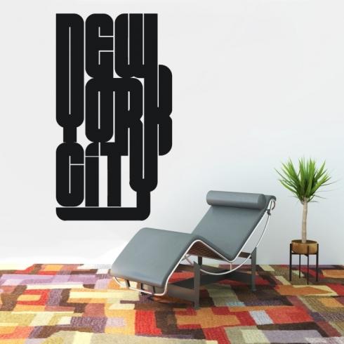 NEW YORK CITY nápis - vinylová samolepka na zeď