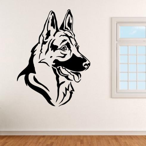 Německý ovčák pes - vinylová samolepka na zeď