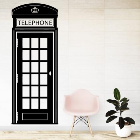 Anglická telefonní budka - vinylová samolepka na zeď
