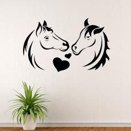 Koně a láska - vinylová samolepka na zeď