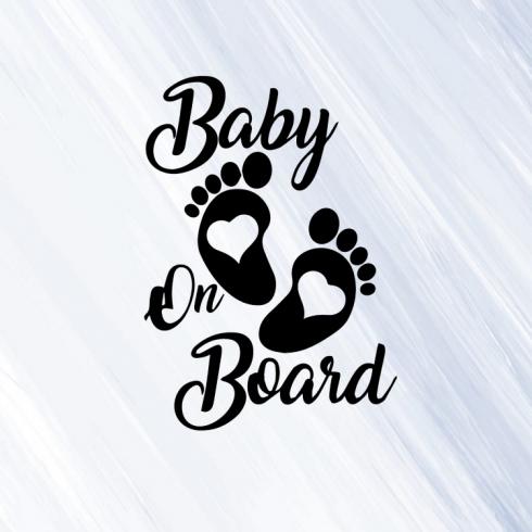 Baby on board 3 - vinylová samolepka na auto