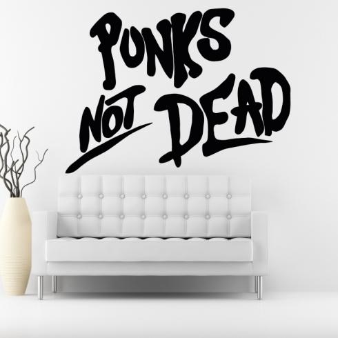 Punks Not Dead - vinylová samolepka na zeď